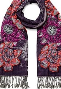 Rebecca Minkoff  Floral Oblong Scarf Embroidered